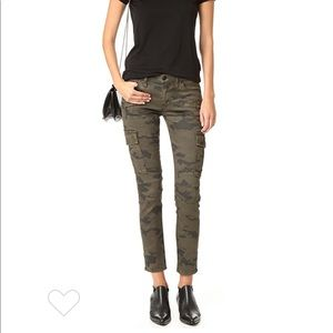 Colby Ankle Moto Skinny Camo Cargo Jeans